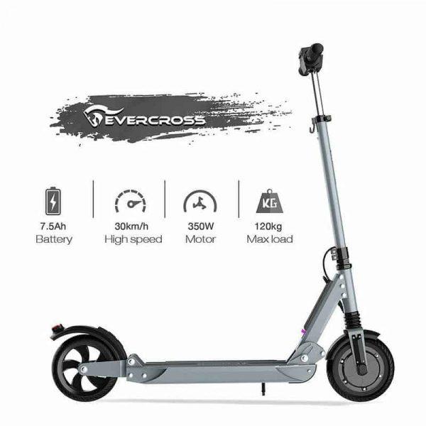 New Evercross E1 Electric Scooter Grey 2